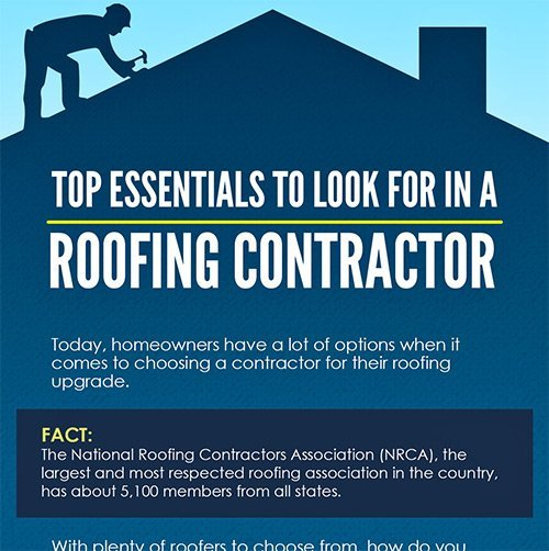 Infographic: Top Essentials to Look for in a Roofing Contractor